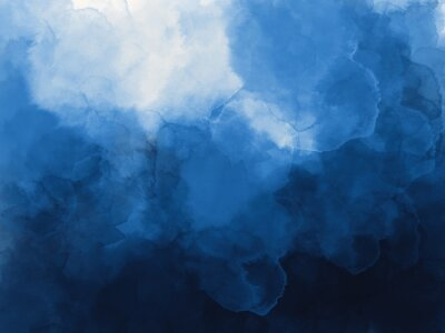 Wall mural Blue watercolor background