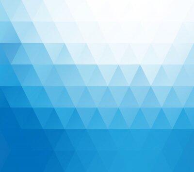 Wall mural Blue White Mosaic Background, Creative Design Templates