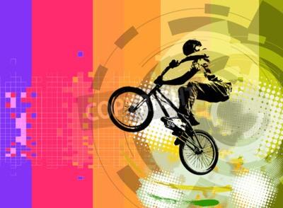Wall mural BMX rider