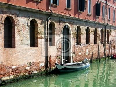 Boat Canal Venice Italy