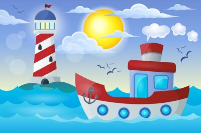 Wall mural Boat theme image 2