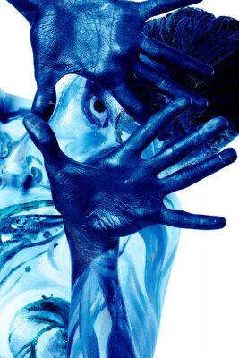 Bodypainting project: art, fashion, beauty