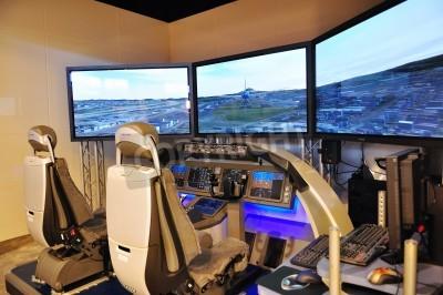 Wall mural Boeing flight simulator at Singapore Airshow February 03, 2010 in Singapore