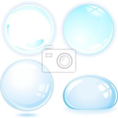 Bolle d'acqua-Water Bubbles-Vector