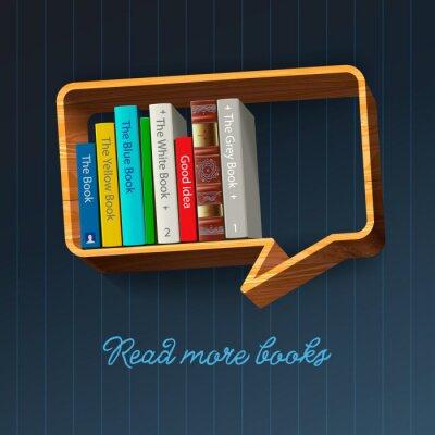 Wall mural Bookshelf form of speech bubble, vector Eps10 illustration.