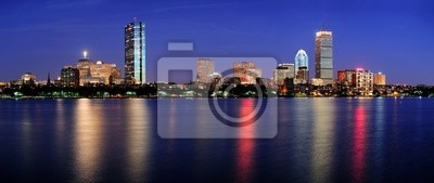 Boston night scene panorama