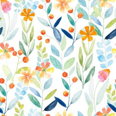 Wall mural Botanical seamless pattern