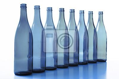 Wall mural bottles