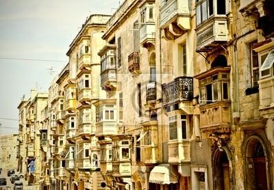 Bow windows in Valletta