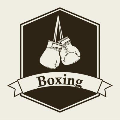 Wall mural boxing emblem