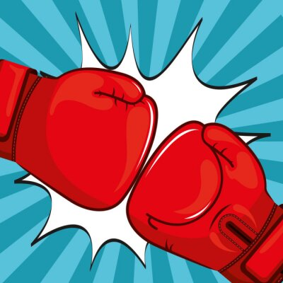 Wall mural Boxing gloves design