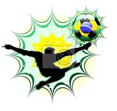 Brasile Calciatore-Brasil Soccer Champion-Vector