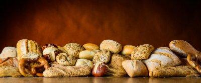 Wall mural bread and bun pile