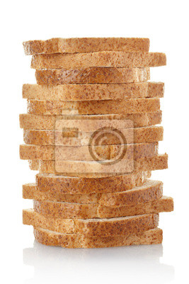 Wall mural Bread loaf isolated, clipping path included