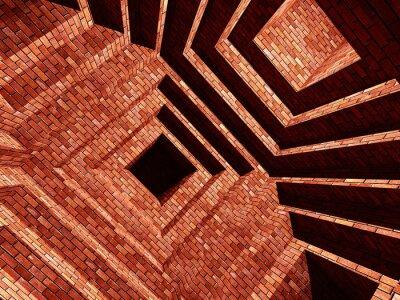 Wall mural brick abstarct building