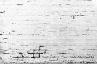 Wall mural Brick texture with scratches and cracks
