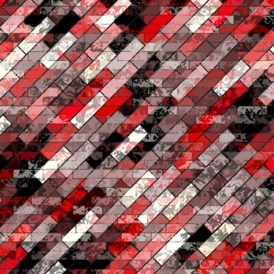 brick with grunge effect colored abstract background vector illustration