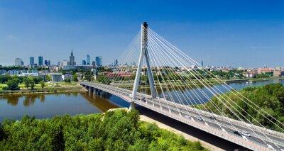 Wall mural Bridge in Warsaw over Vistula river