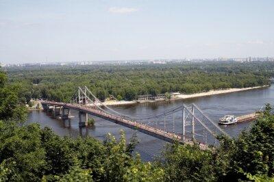 bridge over dniepr river