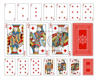 Bridge size Diamond playing cards plus reverse