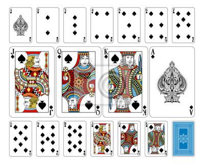 Bridge size Spade playing cards plus reverse