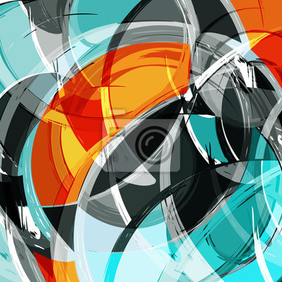 Bright abstract geometric pattern in graffiti style quality illustration for your design