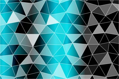Wall mural Bright background for greeting cards. Polygon background black, blue color. Vector illustration. To implement your design ideas, business subjects, successful presentations.