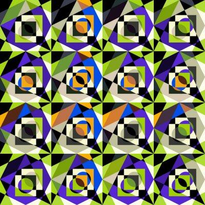 bright colorful geometric abstract pattern Graffiti