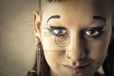 Bright-eyed girl