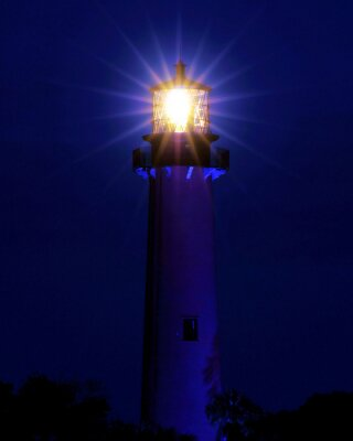 Wall mural Bright Light / Lighthouse located in Jupiter, Florida