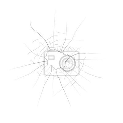 broken glass, hole