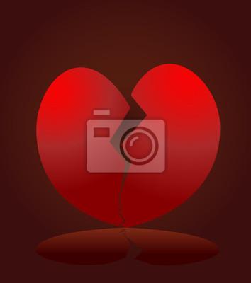 broken heart vector illustration