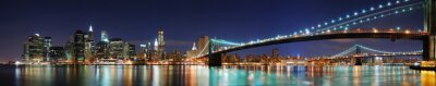 Brooklyn Bridge panorama in New York City Manhattan