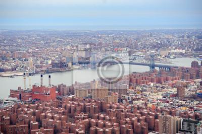 Brooklyn skyline Arial view from New York City Manhattan