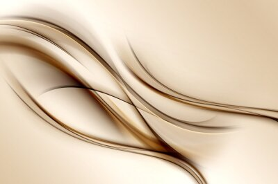 Wall mural Brown Waves Background