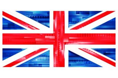 Wall mural brytyjska flaga wektor