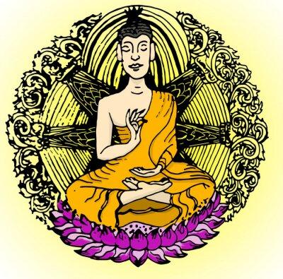 Wall mural Buddha color.