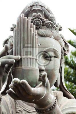 Buddhistic statue portrait