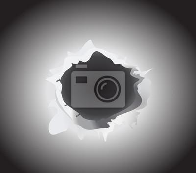 bullet hole vector illustration