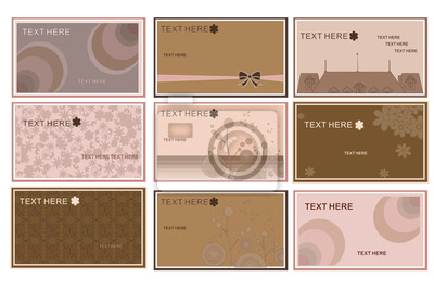 Business cards templates set vector