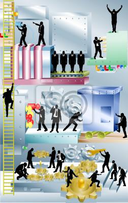 Business machine Conceptual piece