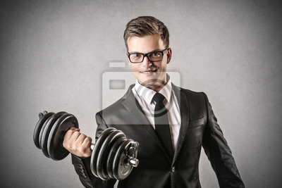 business man who is training