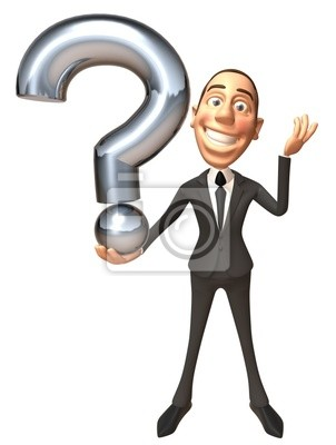 Businessman avec une question