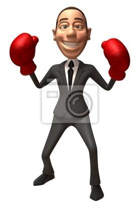Businessman boxe
