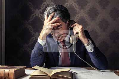 Businessman calling someone