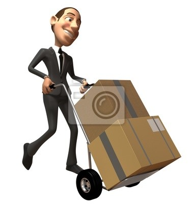 Businessman moves