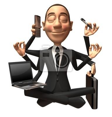 Businessman multitache