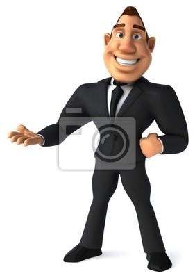 Businessman présente