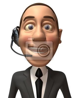 Businessman with headphones