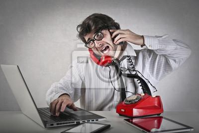 Busy employee